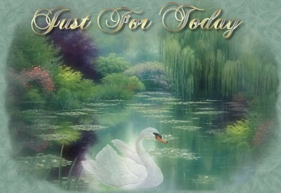 Just for Today,12 steps recovery, serenity prayer,banner Graphics by sygnet swans